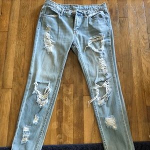Distresses BDG High Waisted Skinny Jeans